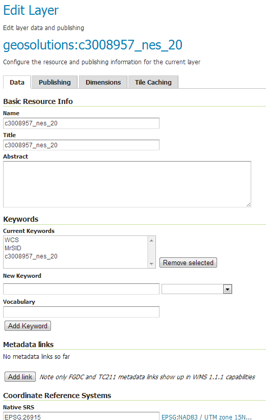 Adding a GDAL Supported Format — GeoServer Training